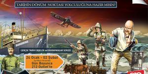 """212 Outlet'te, """"1915'den Cumhuriyet'e Gerçek Tarihi Objeler ve Kahramanlar Sergisi"""""""