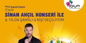 Forum Kapadokya'nın 9. yıl çekilişi Sinan Akçıl'ın muhteşem performansı eşliğinde gerçekleştirilecek