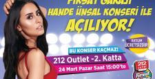 212 Fırsat Garajı, Hande Ünsal Konseri ile Açılıyor!