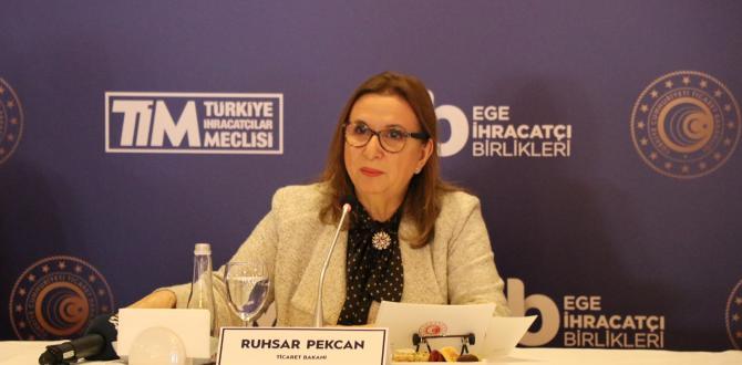 Ticaret Bakanı Ruhsar Pekcan'dan Gıda ihracatçılarına açık çek