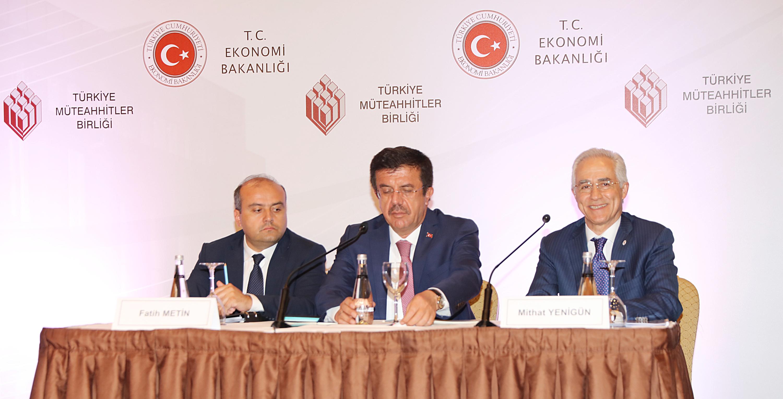 Ekonomi Bakanı Zeybekci, Türkiye Müteahhitler Birliği'nin konuğu oldu.