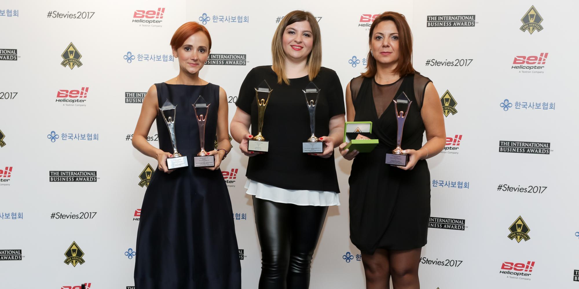 CEFIC tarafından yönetilen 3 AVM Stevie Uluslararası İş Ödülleri'nde 9 Uluslararası Ödül