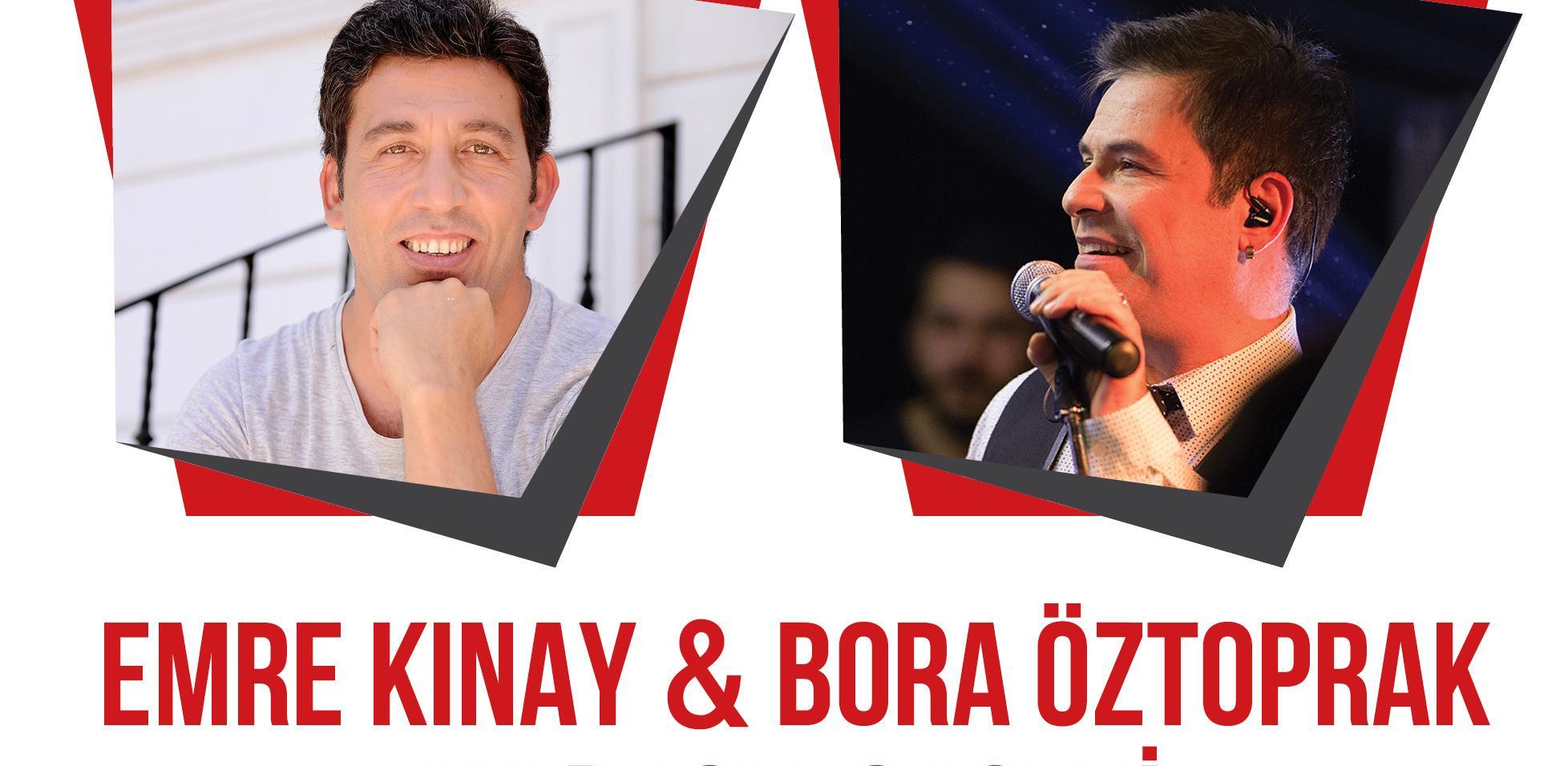 Tepe Nautilus'ta büyük yılbaşı konseri; Emre Kınay & Bora Öztoprak