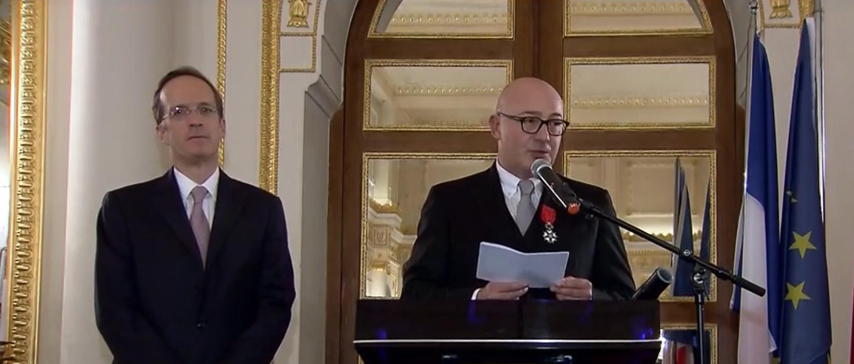 Doğuş Grubu Yön. Kur. Başkanı Ferit F. Şahenk'e Fransa'dan Legion D'Honneur Nişanı