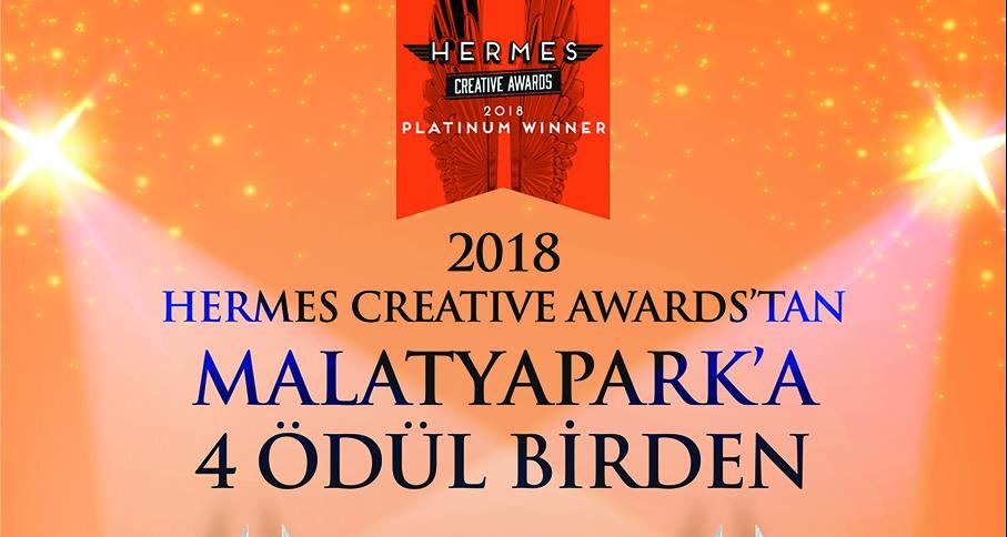 MALATYAPARK'A HERMES CREATIVE AWARDS'DAN 2018'DE DE ULUSLAR ARASI 4 ÖDÜL