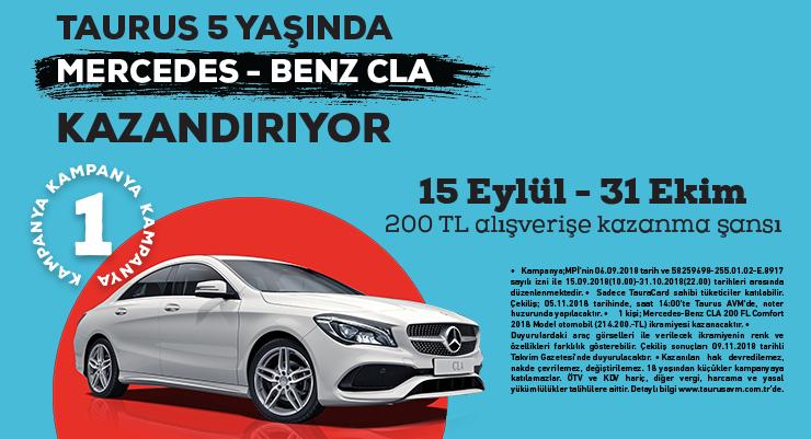 Taurus 5 Yaşında Mercedes Benz CLA Kazandırıyor