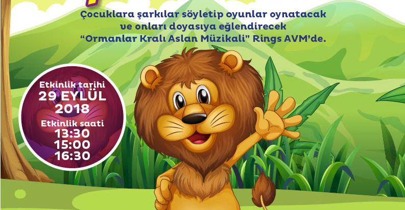 Minikler İçin Ormanlar Kralı Aslan Müzikali Rings AVM'de