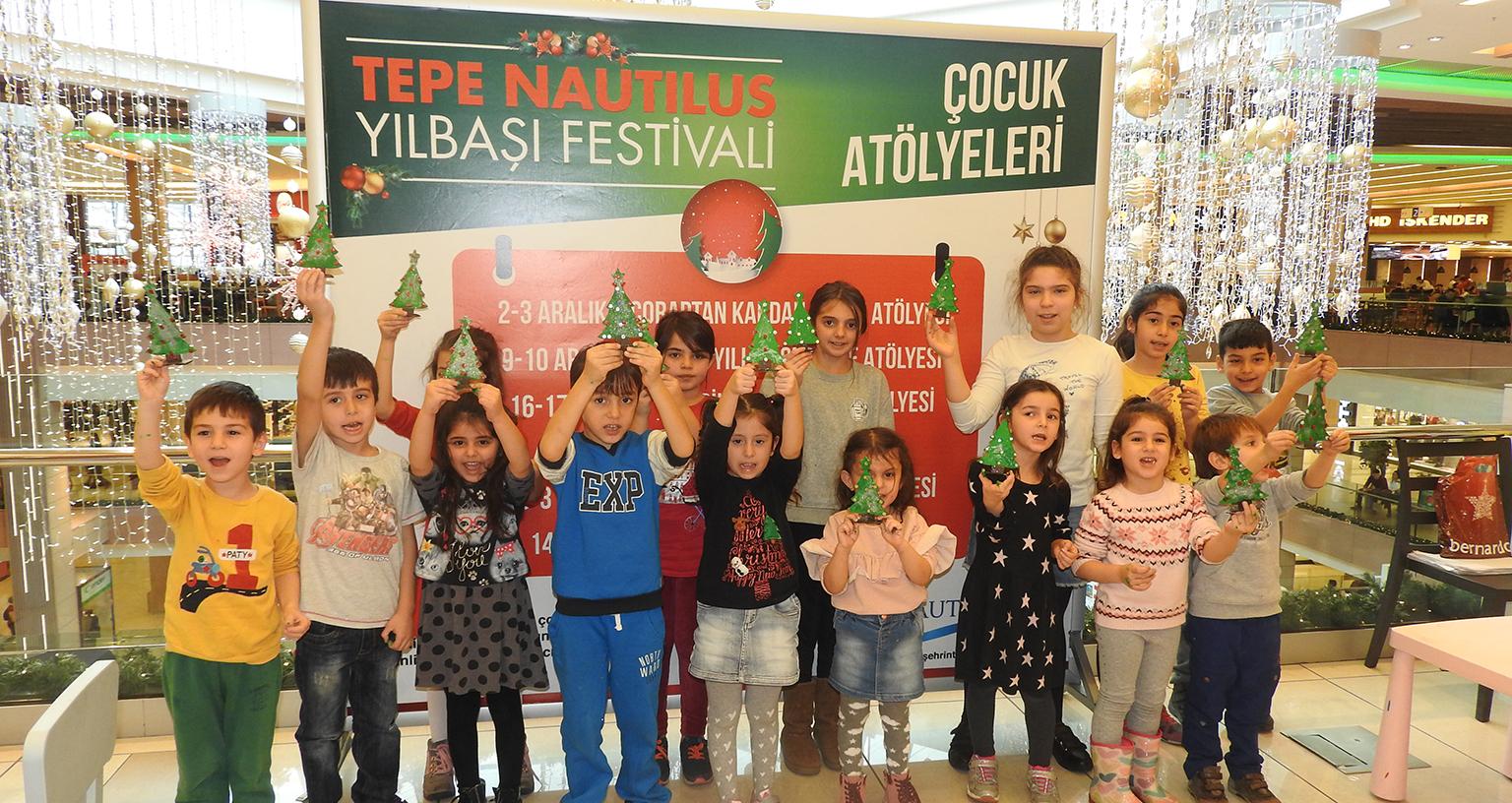 Tepe Nautilus'tan Çocuklara Özel Yılbaşı Atölyeleri