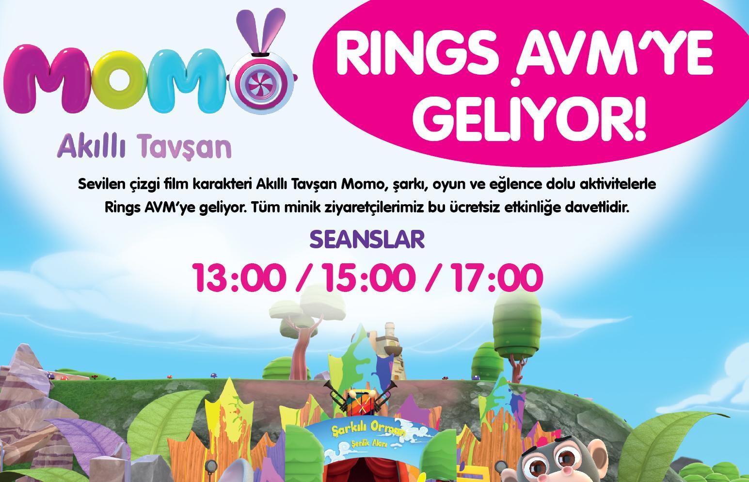 Akıllı Tavşan Momo Rings AVM'ye Geliyor!