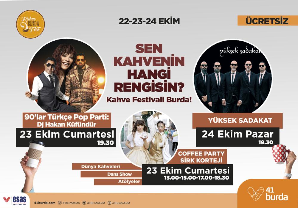 """41 BURDA AVM'DE """"KAHVE BURDA FESTİVALİ"""" BAŞLIYOR"""